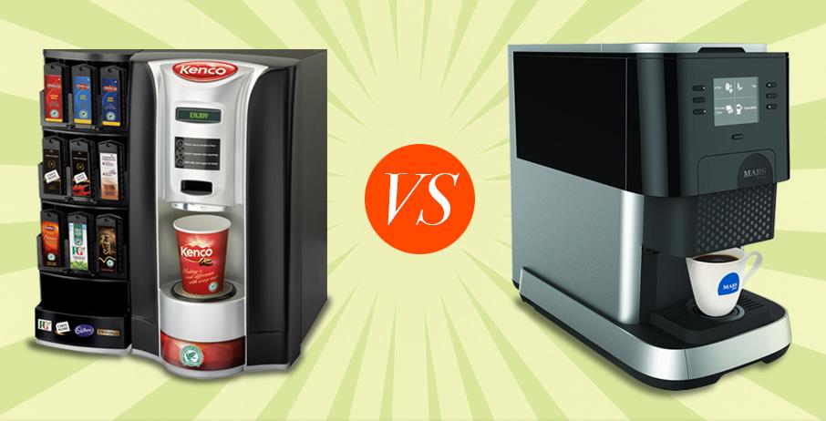 Kenco Singles v Flavia Office Coffee Machines