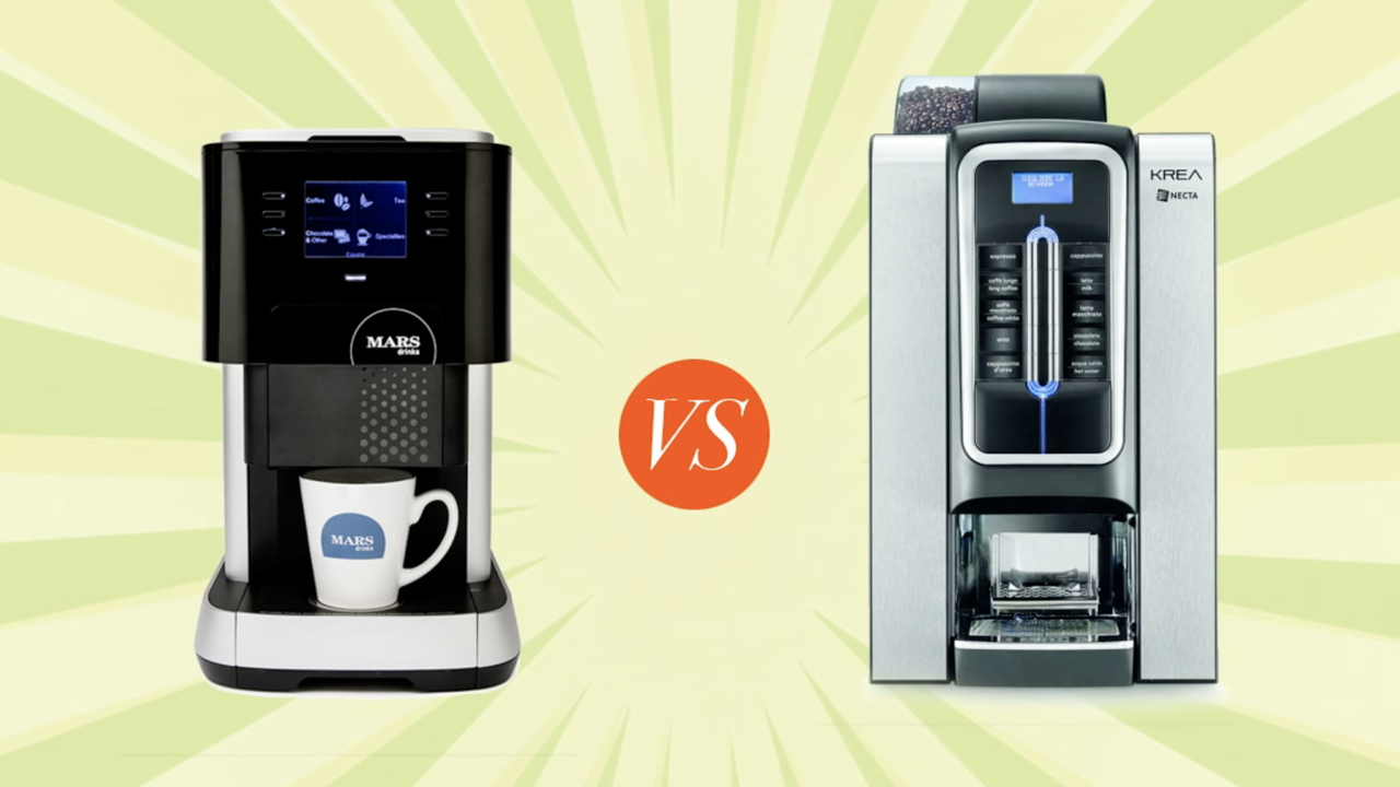 Flavia and Krea office coffee machines